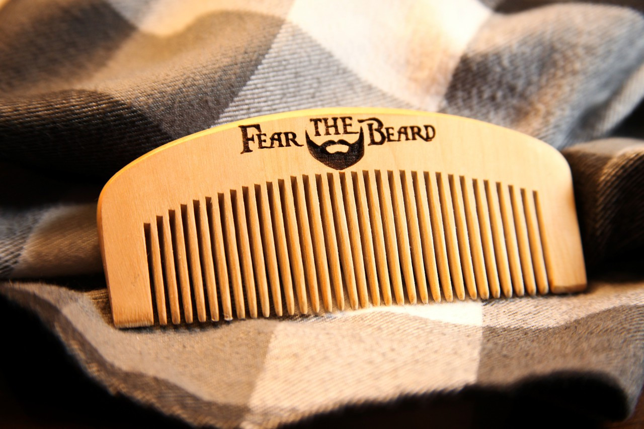 Engraved Comb - Fear The Beard