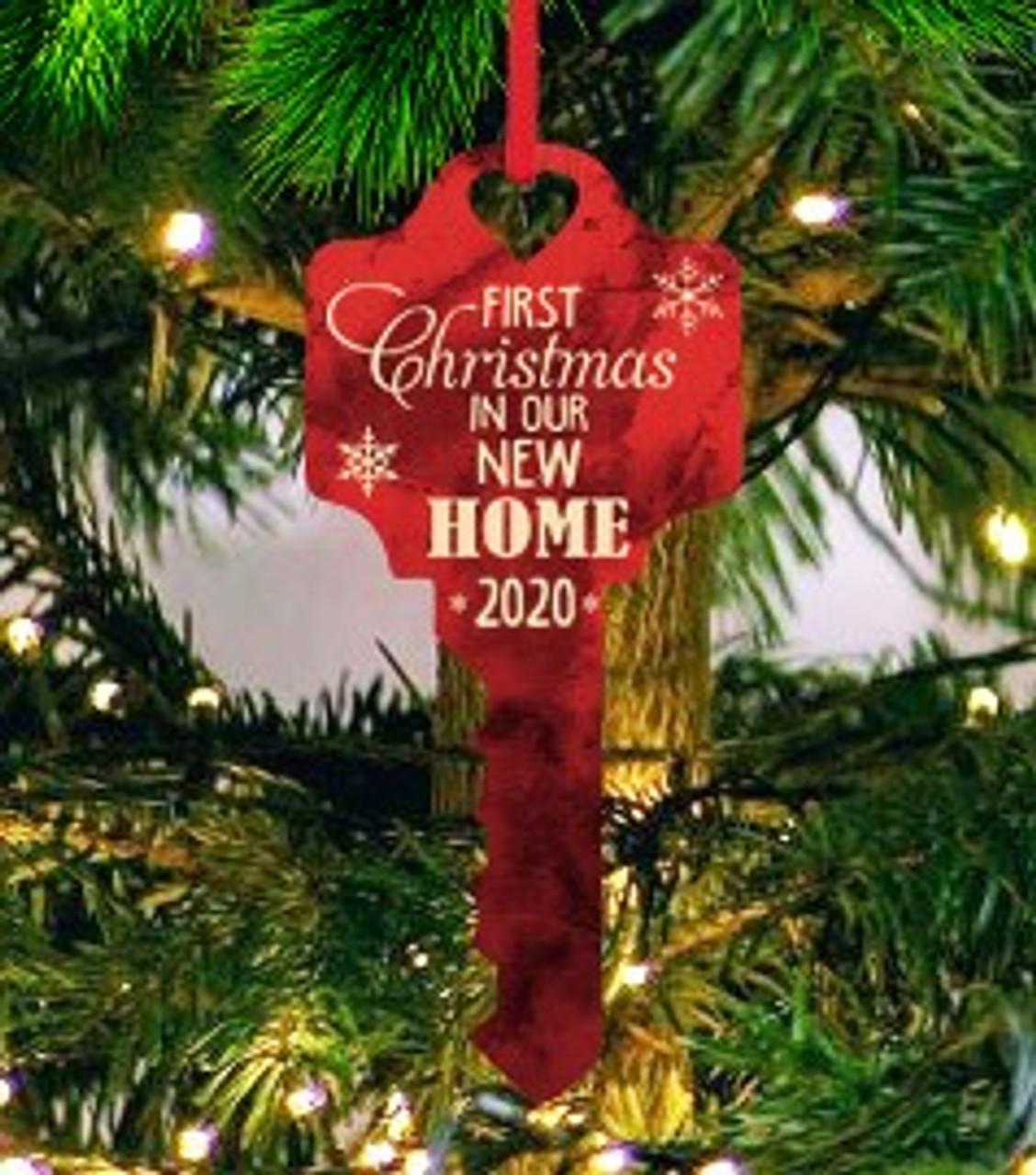 1st Home Key Acrylic Ornament