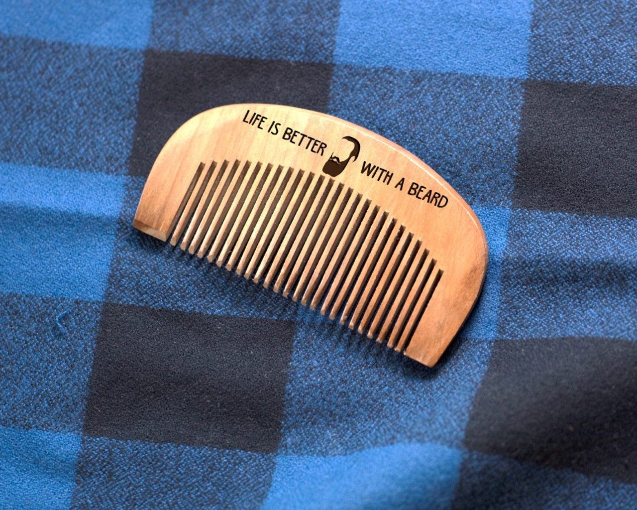 Engraved Comb - Life is better with a Beard