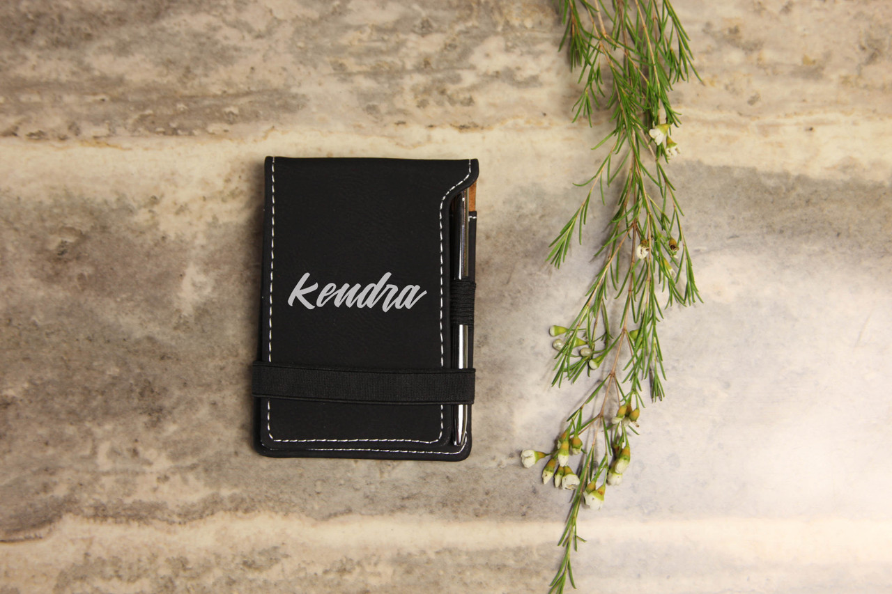 Grpn Spain - Personalized Leather Notepad - Calligraphy
