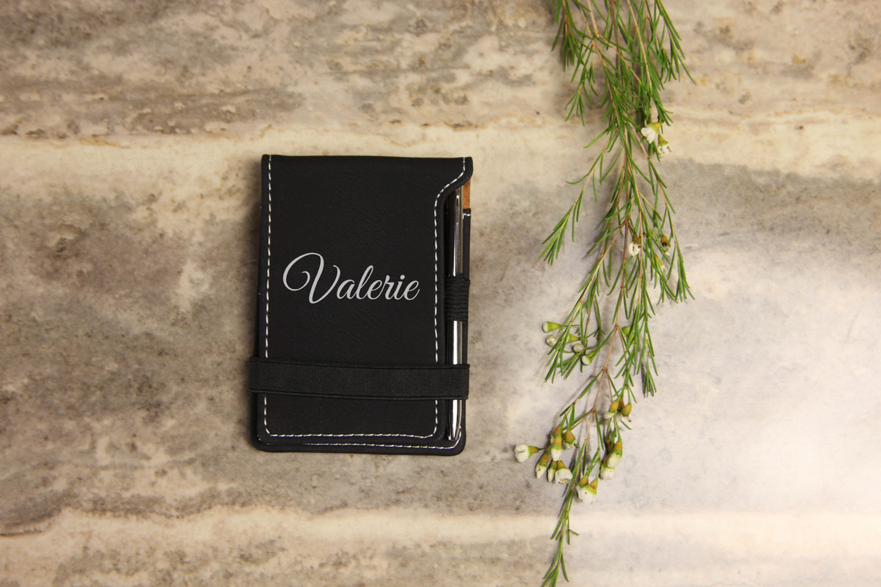 Grpn Spain - Personalized Leather Notepad - Script