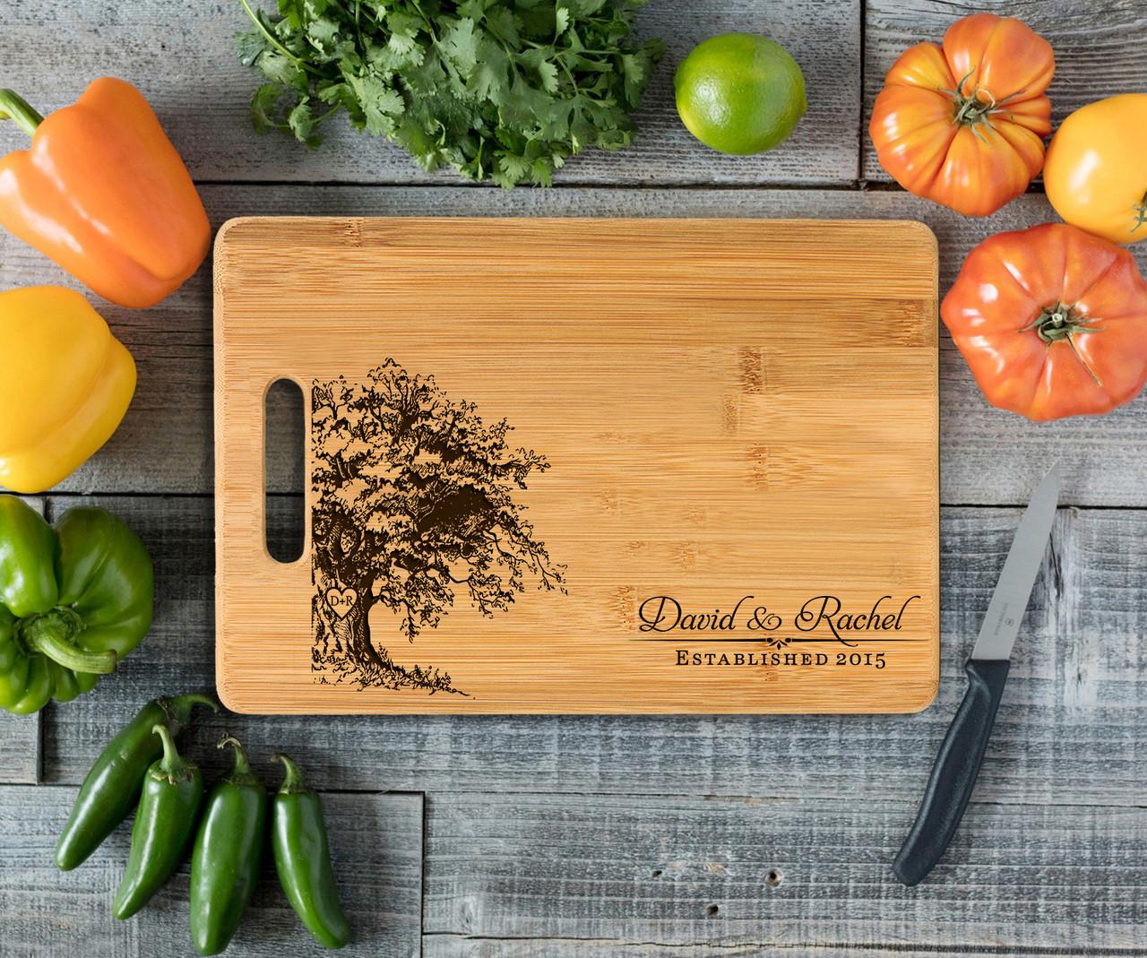 Handle Oak Tree Personalized Cutting Board