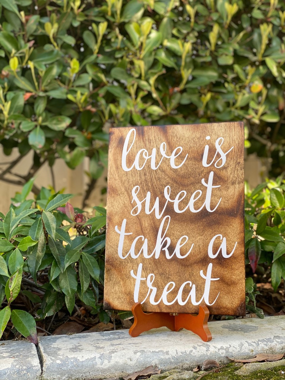 'Love is Sweet' Wedding Favor Sign