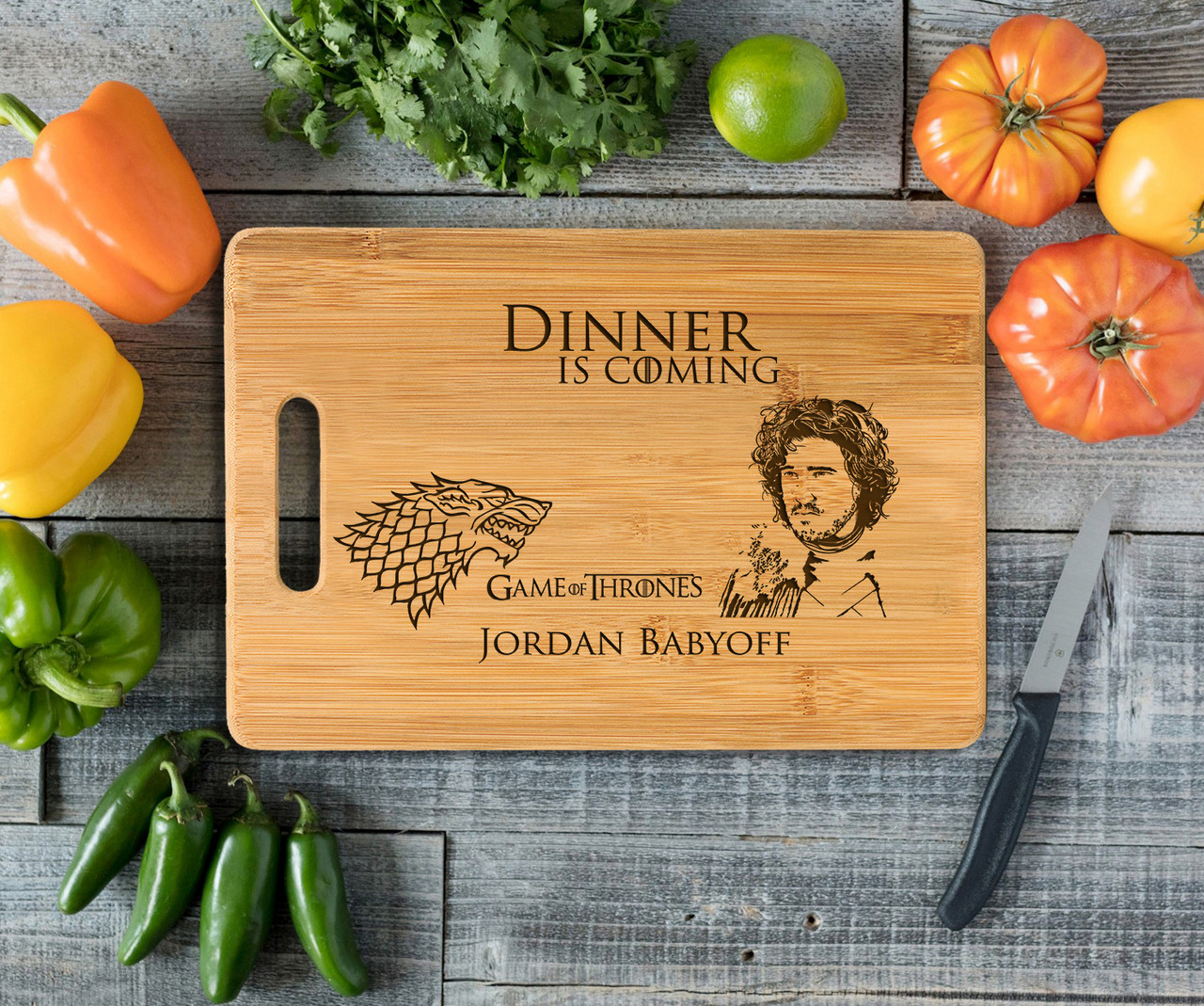 Handle Game of Thrones Personalized Cutting Board