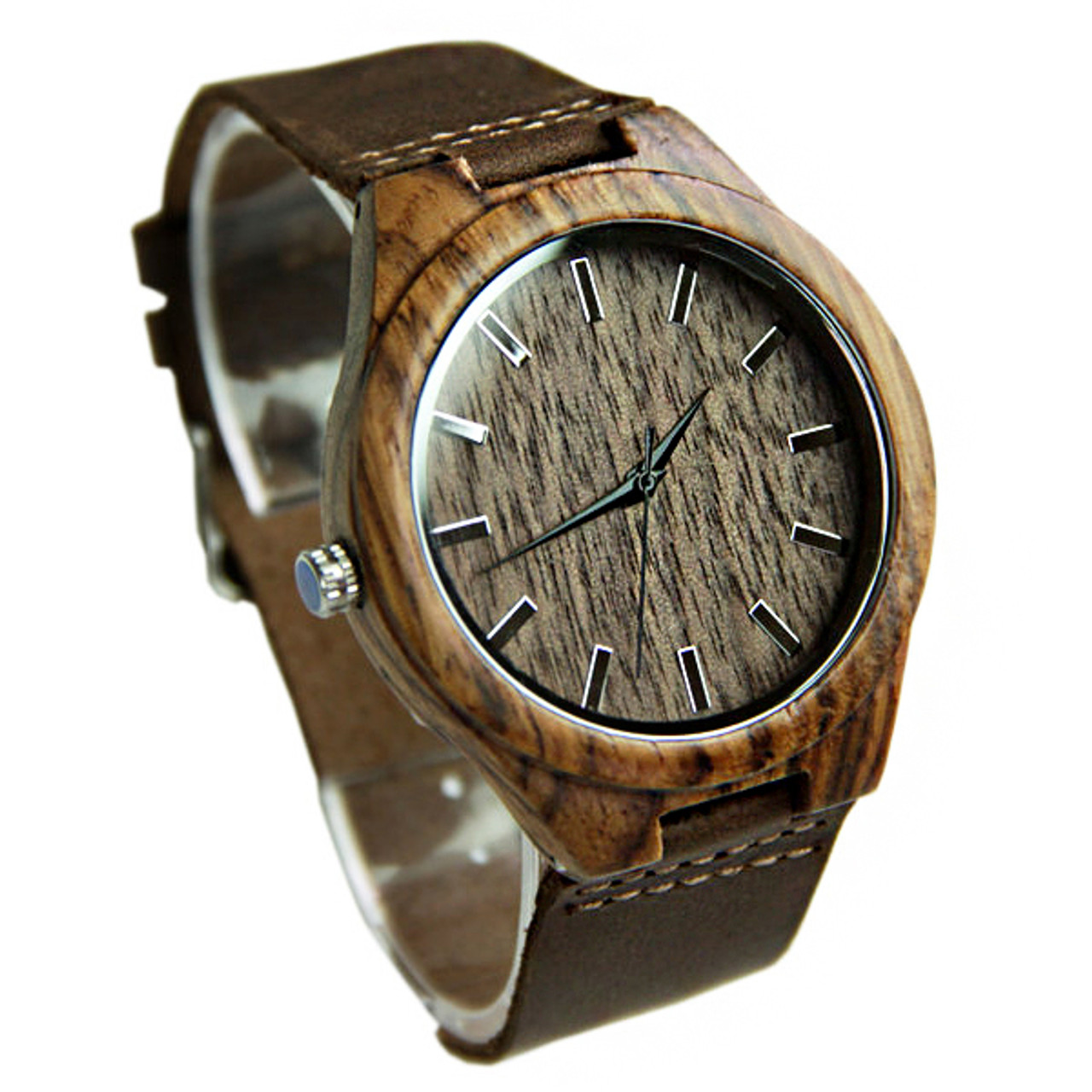 Wood Engraved Watch W#86 - Ruin