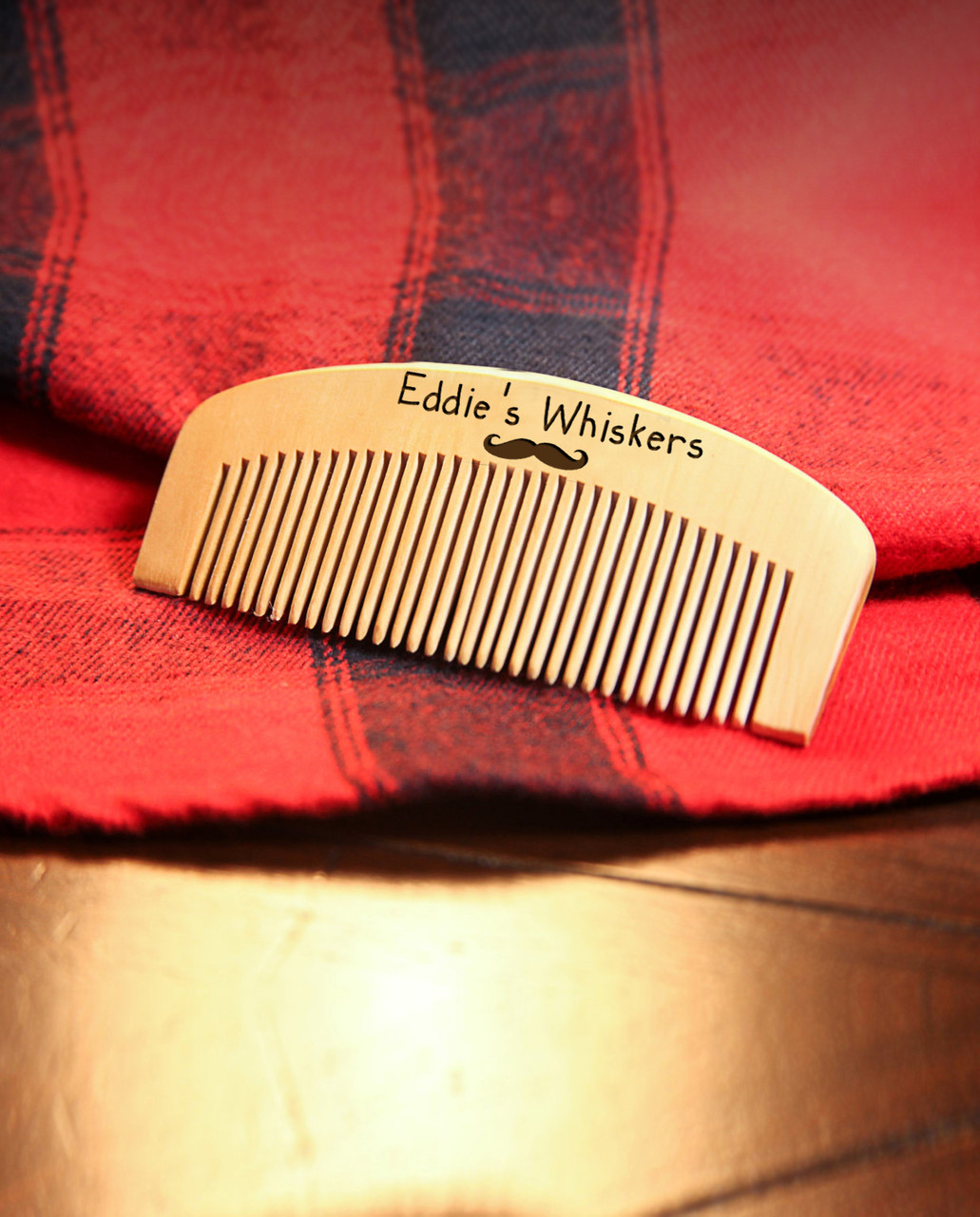 Personalized Comb - His Whiskers (Kid Font)