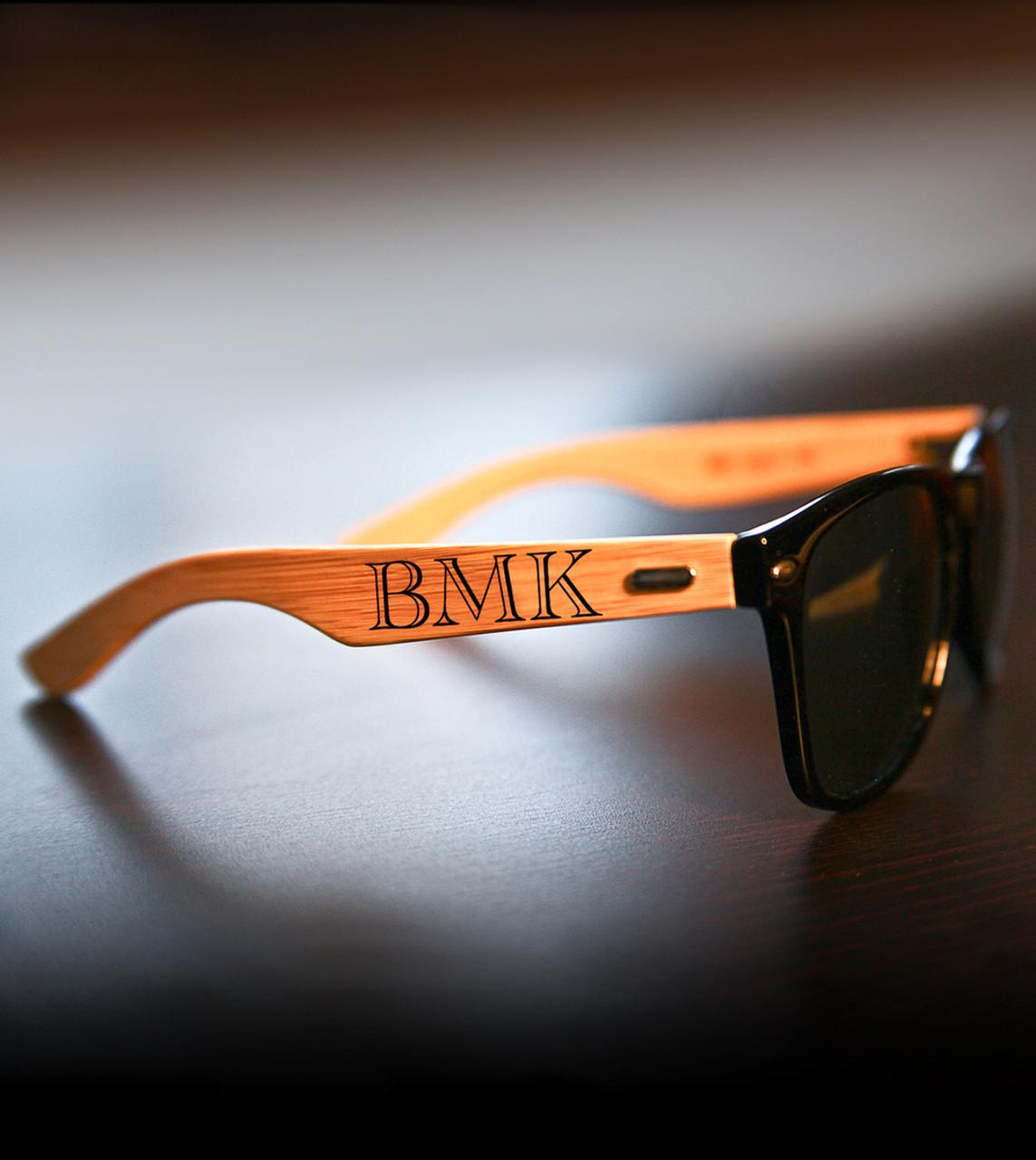 Personalized Bamboo Sunglasses - IMPRINT Monogram