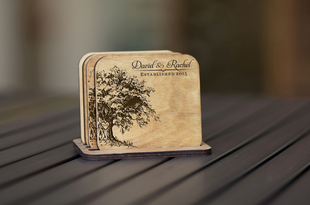 Personalized Coaster Set - Willow Tree