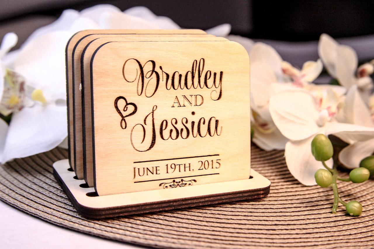 Personalized Coaster Set - Stacked Name