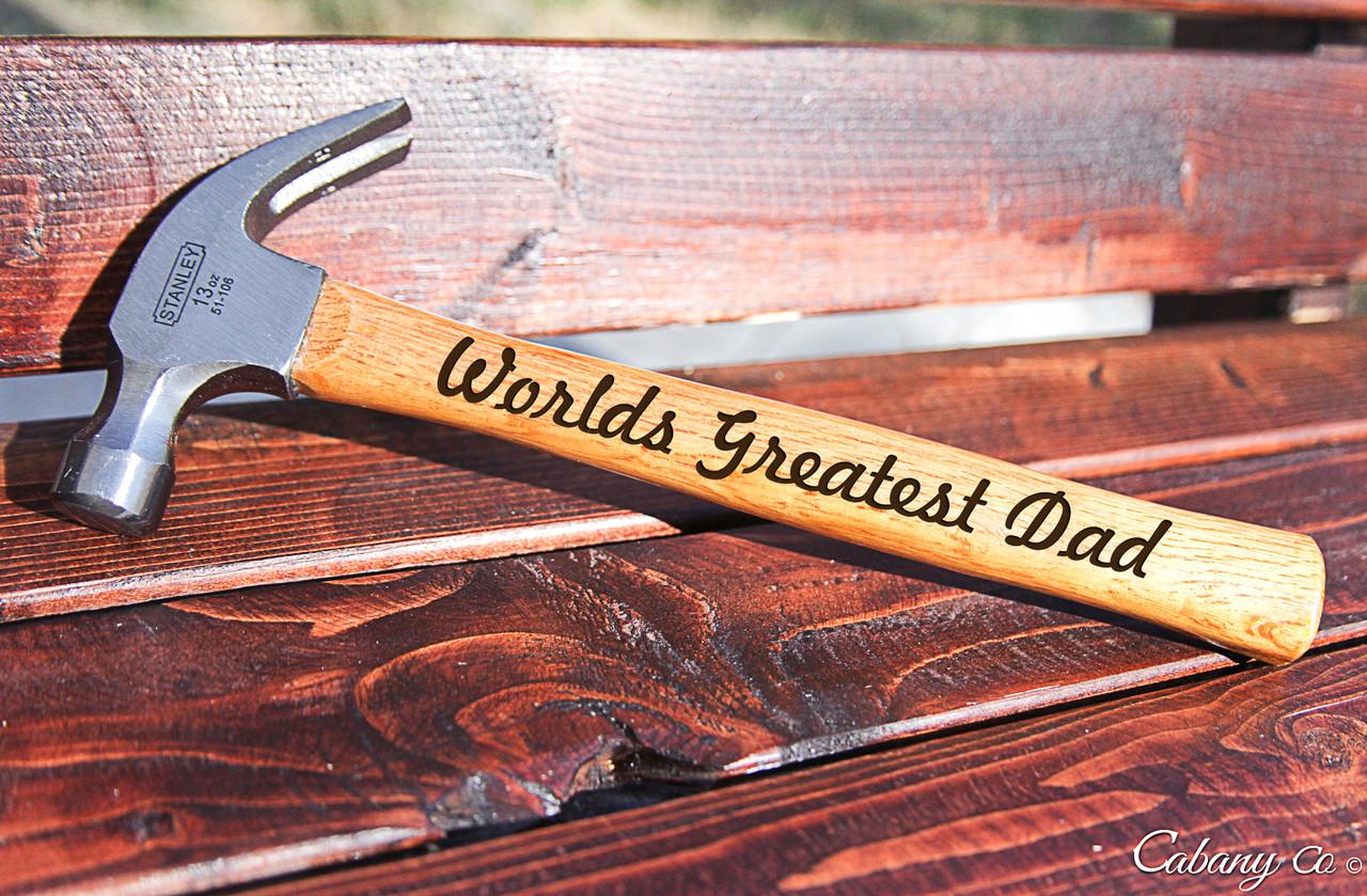 Engraved Hammer - Worlds Best Dad