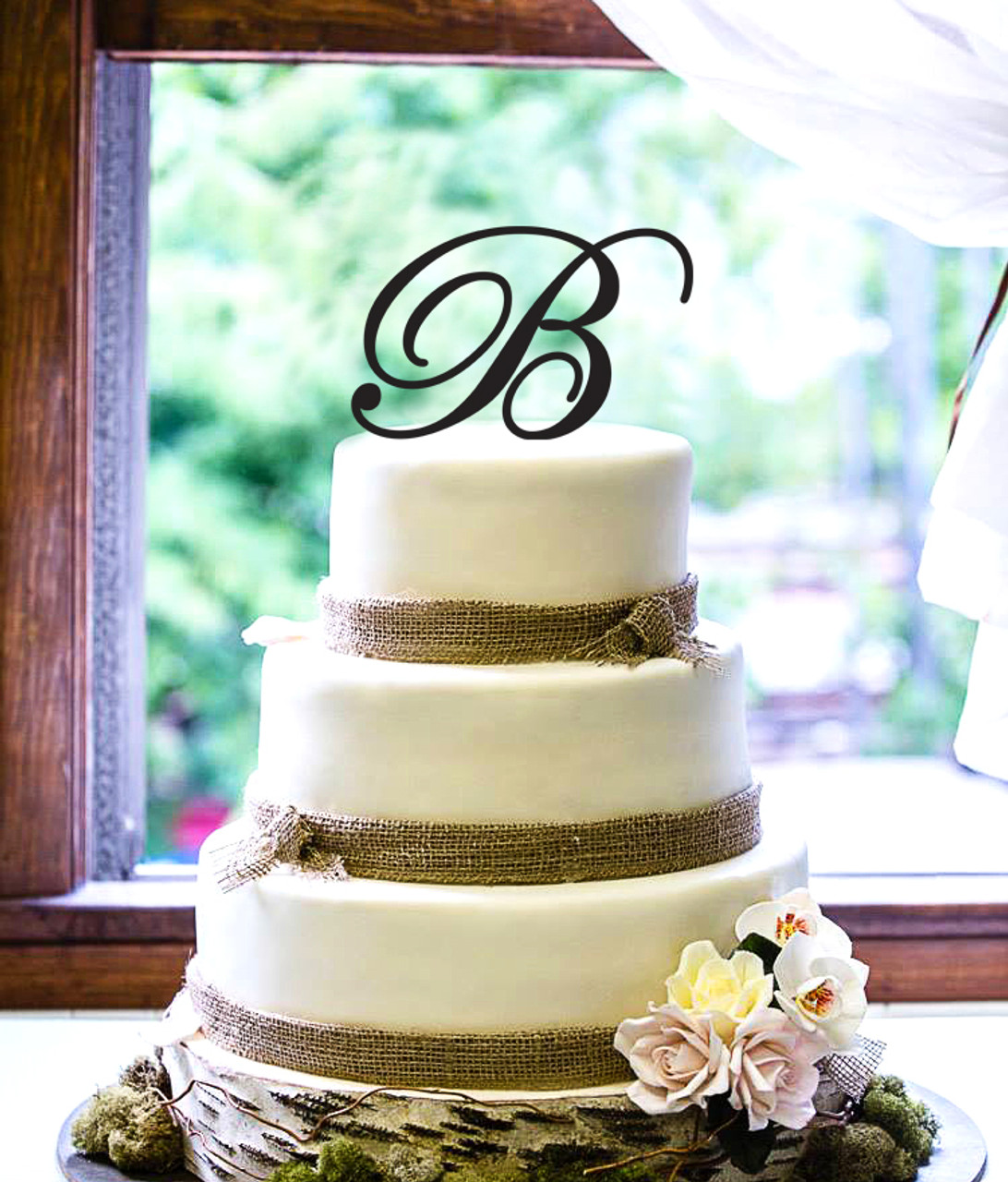 Personalized Cake Topper -Fancy Initial