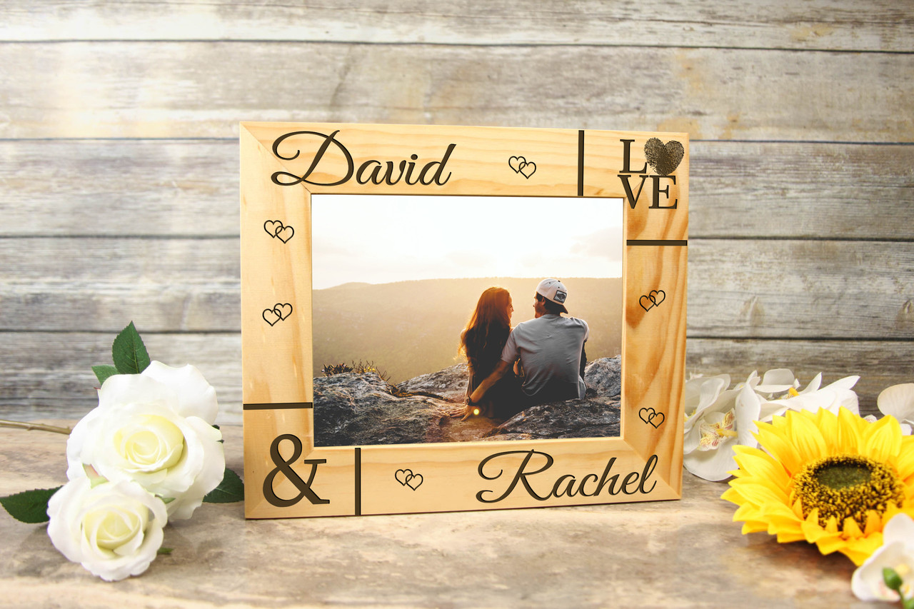Personalized Picture Frame - Corner Names