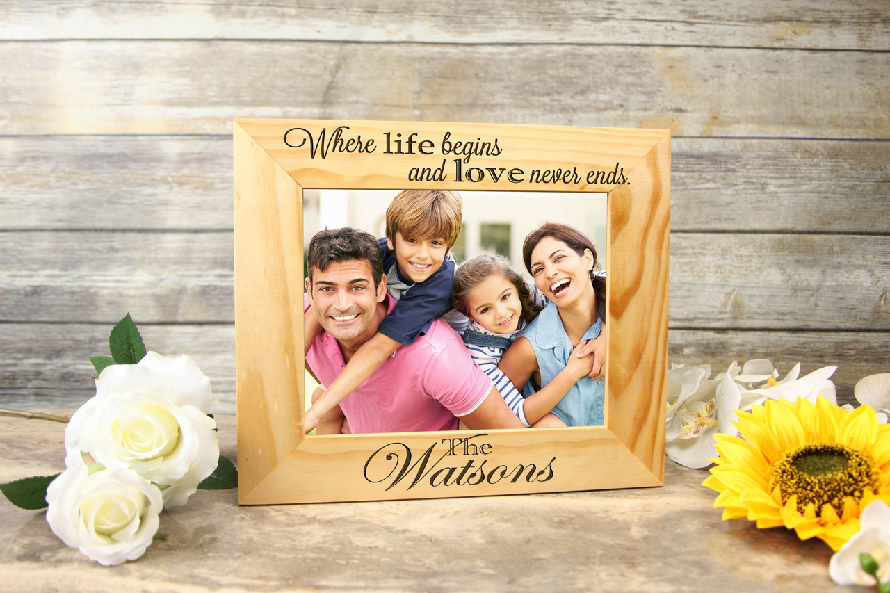 Personalized Picture Frame - Where life begins