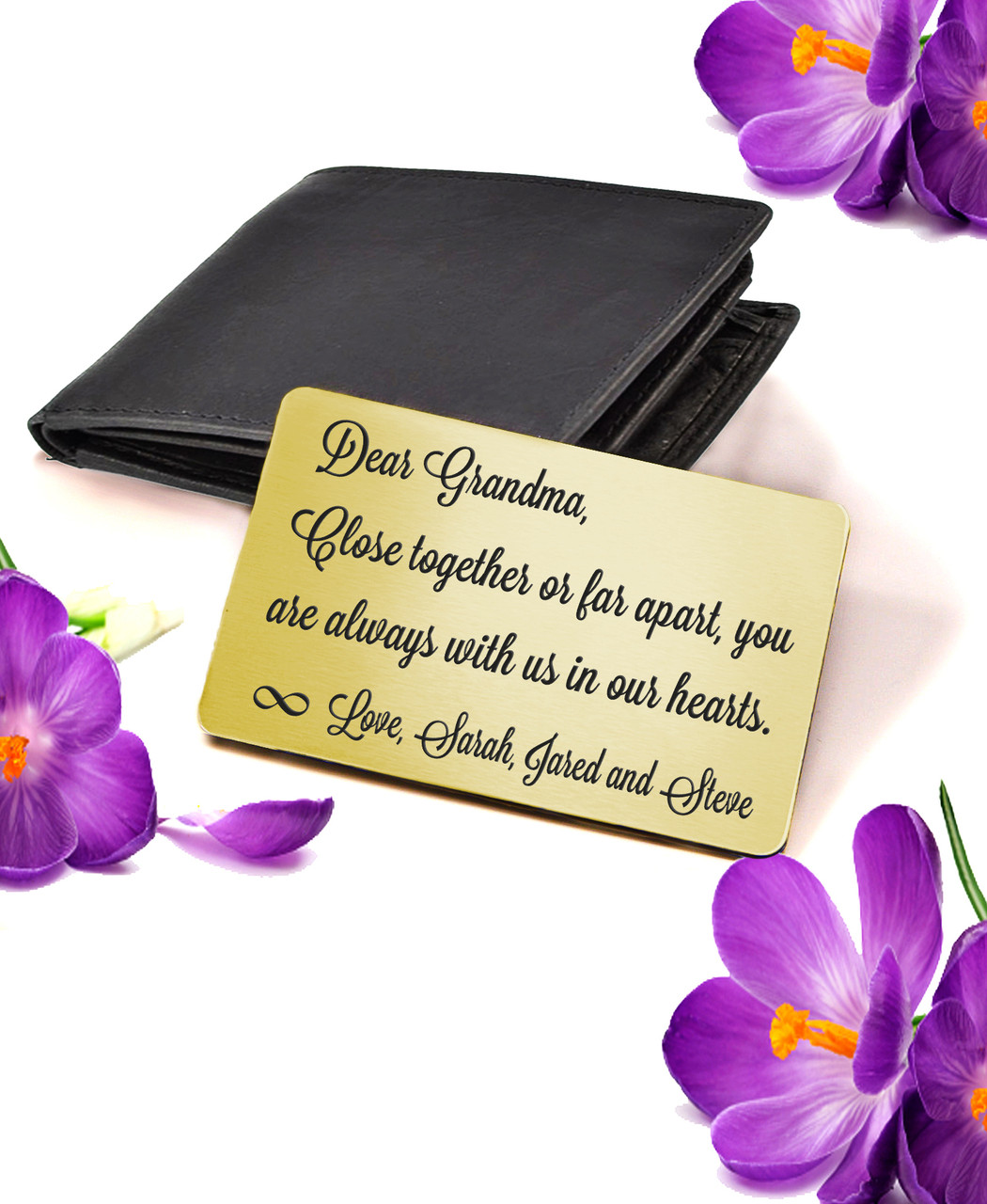 LUX - Personalized Wallet Card  - For Her Close Together