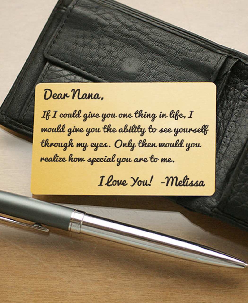LUX Personalized Wallet Card  - For Her If I Could Give