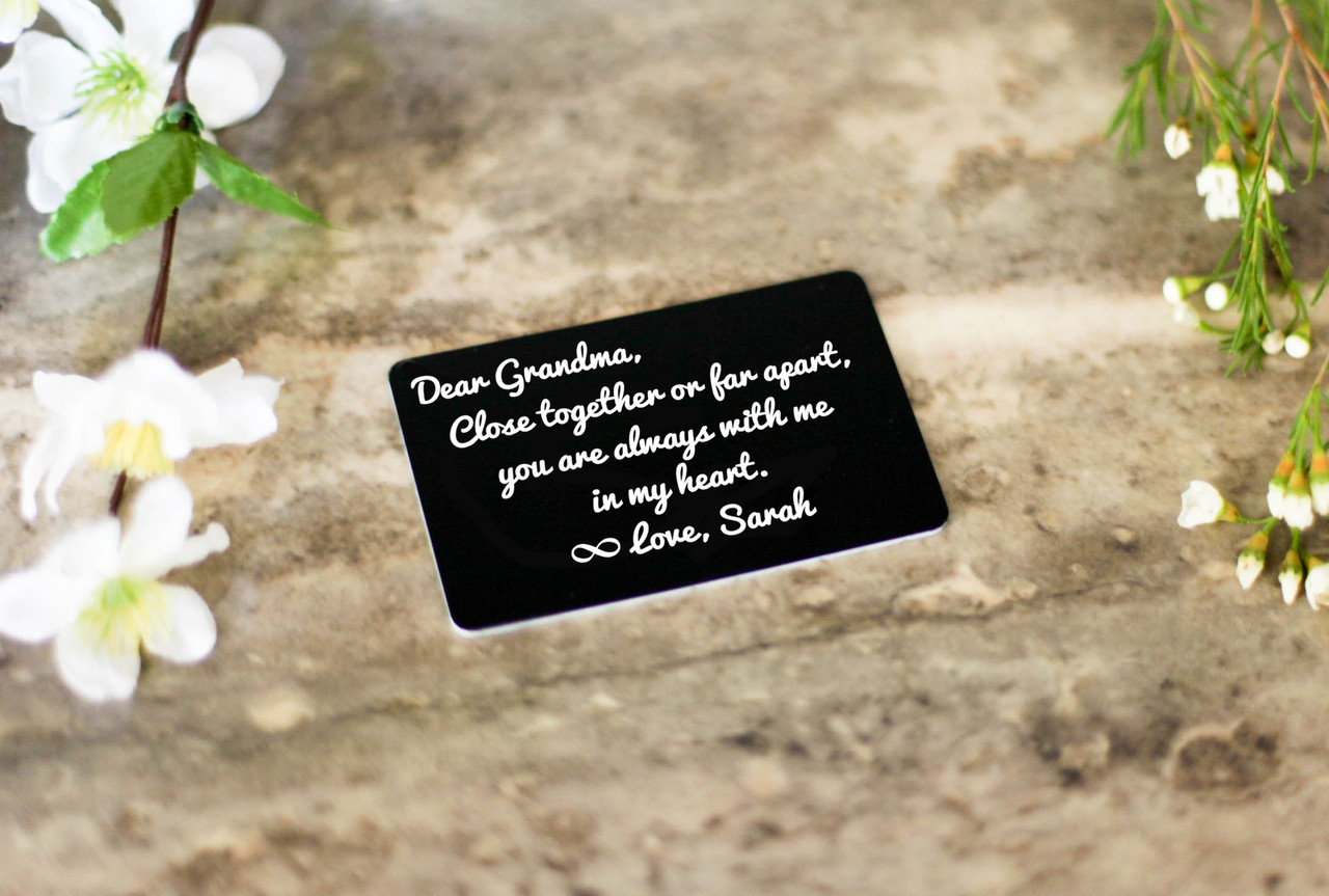 Personalized Wallet Card  Insert - Close Together