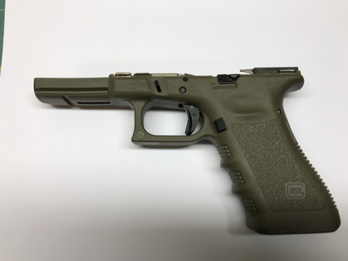 G17 / 9mm Gen 3 Complete Frame / Lower OD Green