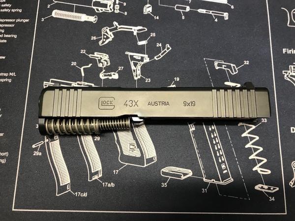 G43X / 9mm Complete Slide Black