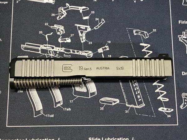 G19 / 9mm Gen 5 Complete Slide Night Sights