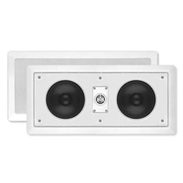 "5.5"" DUAL WOOFER TWO-WAY IN-WALL CENTRE CHANNEL LOUD SPEAKER"