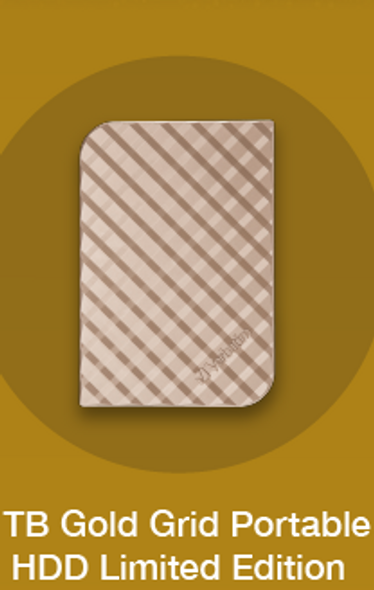 Verbatim GOLD 1Tb Portable HDD Limited Edition