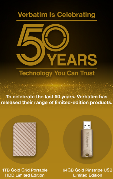 Verbatim limited edition celebratory products