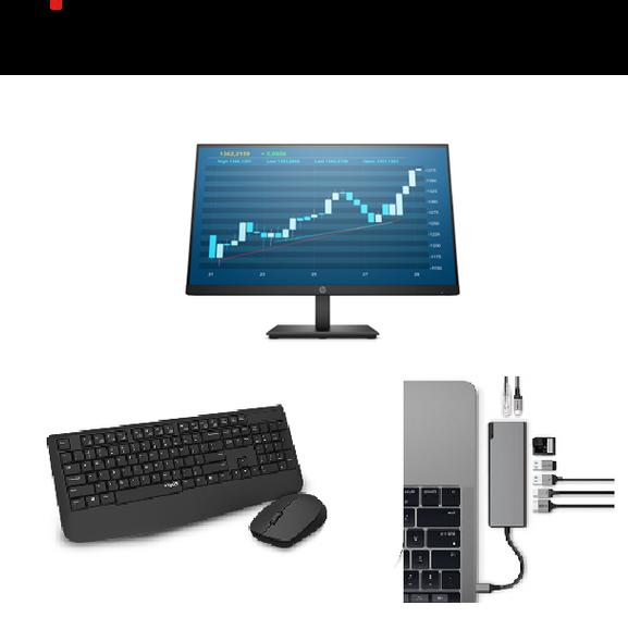 Monitor, USB-C Dock, Wireless Keyboard and Mouse Bundle!