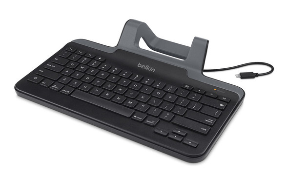 Belkin wired tablet keyboard with stand for iPad