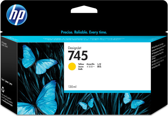 HP 745 130-ML YELLOW INK CART