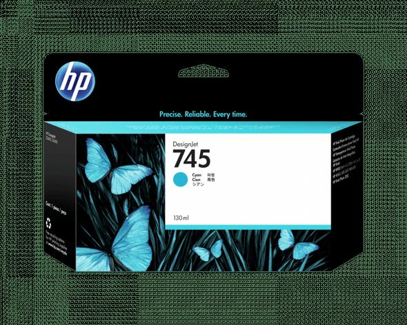 HP 745 130-ML CYAN INK CART