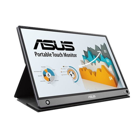 ASUS ZenScreen Touch MB16AMT portable monitor, 15.6-inch, IPS, Full HD, 10-point Touch, Built-in Battery, Hybrid Signal Solution, USB Type-C