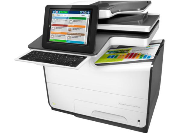 25Kg+ Freight Rate-PageWide Enterprise Flow 586z Multifunction,Color Print, copy, scan, fax,Duplex,USB,1.2 GHz,2048MB