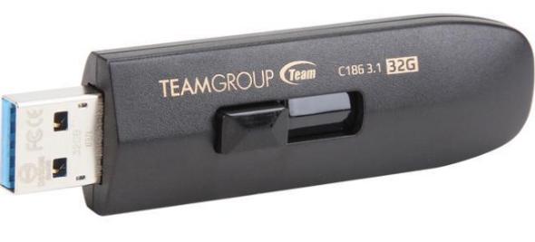 TEAM C186 USB 3.0 32GB Black