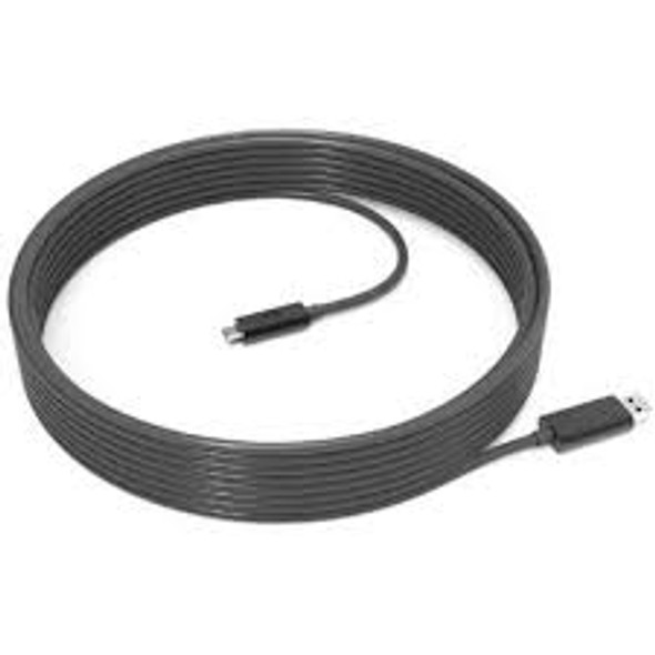Logitech Strong USB-A to USB-C Cable: 10 meters (32.8 ft) USB-C extension cable for tight spaces: 152mm (6 in)