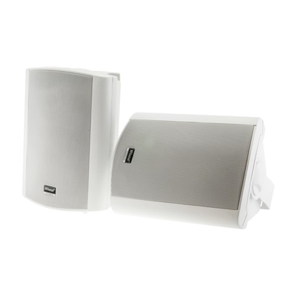 CLASS5AW WHITE PAIR 2-WAY 40W CLASS D AMP IN & OUTDOOR ACTIVE SPEAKERS WITH STANDBY