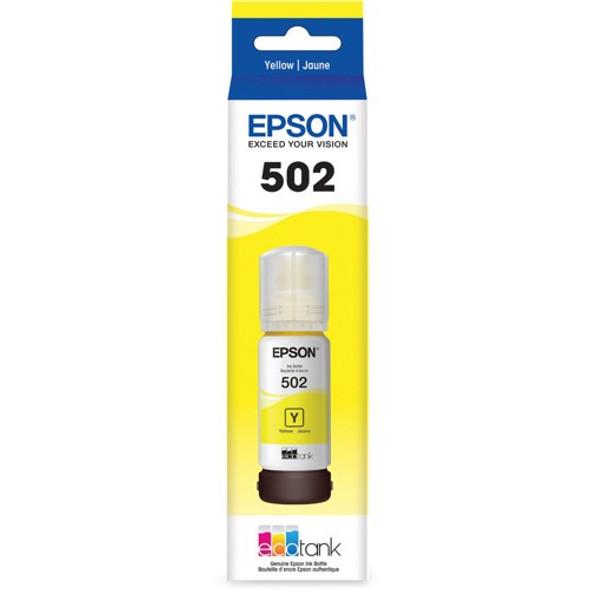 EPSON ECOTANK T502 YELLOW INK BOTTLE ECO TANK ET-2700 ET-2750 ET-3700 ET-4750