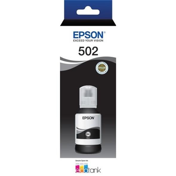 EPSON ECOTANK T502 BLACK INK BOTTLE ECO TANK ET-2700 ET-2750 ET-3700 ET-4750
