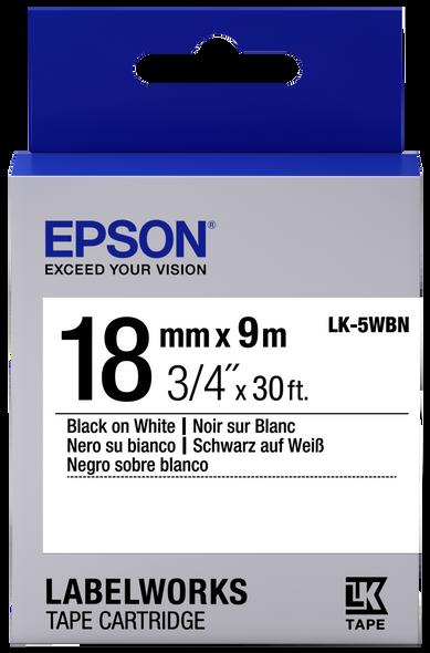 EPSON TAPE STANDARD 18MM BLACKWHITE 9M LW-400 LW-600P