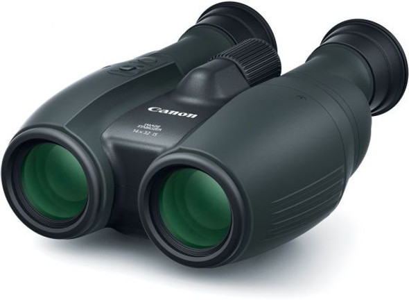CANON 14X32IS BINOCULARS PREMIUM COMPACT 14X MAG PWRD IS SOFTCASE STRAP LENS CAP