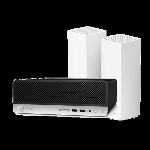 HP 400 G6 Desktop and Linksys Velop Bundle