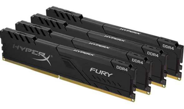 64GB 2400MHz DDR4 CL15 DIMM (Kit of 4) HyperX FURY Black