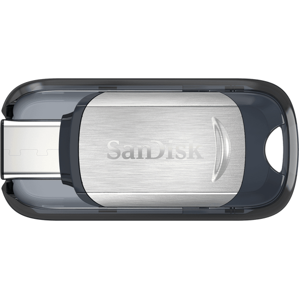 SanDisk Ultra USB Type-C Flash Drive, CZ450 128GB, Type C, Metal, Type C reversible connector, super-thin retractable, Type-C enabled host devices, 5Y