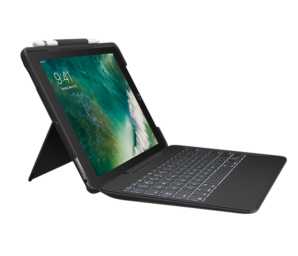 Logitech Slim Combo with Detachable Keyboard and Smart Connector for iPad Pro 10.5 Black