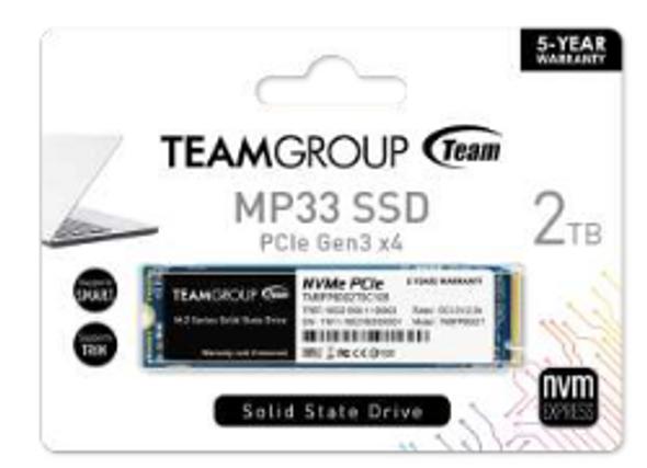 TEAM SSD MP33 2TB (NVME)