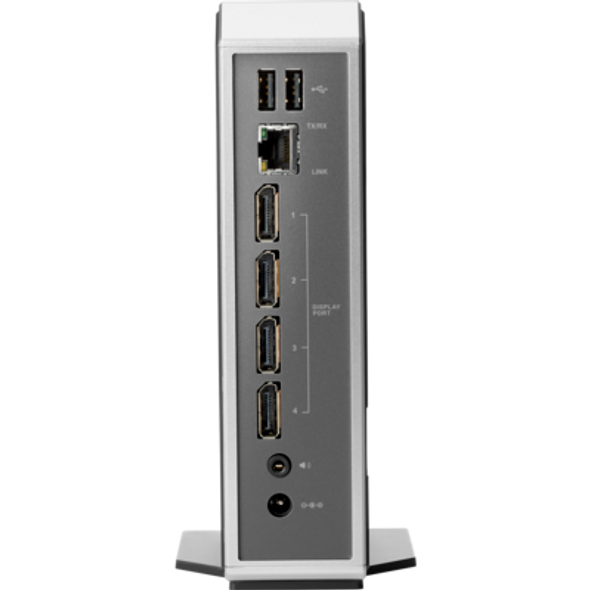 HP t310: TERA2140 PCoIP Zero Client processor/ 512 MB/ 32MB/ / No WiFi/ Fiber NIC/ No OS - Quad Display