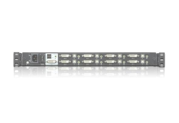 """Single Rail 8-Port DVI FHD 17.3"""" LCD KVM Switch - [ OLD SKU: CL-6708MW ]"""