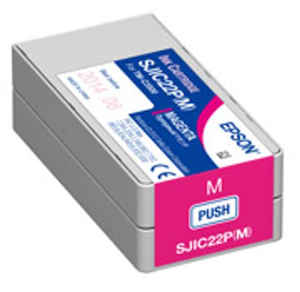 Epson SJIC22P(M) - Magenta Ink Cartridge for TM-C3500