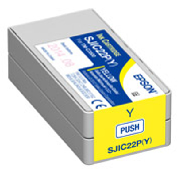 Epson SJIC22P(Y) - Yellow Ink Cartridge for TM-C3500