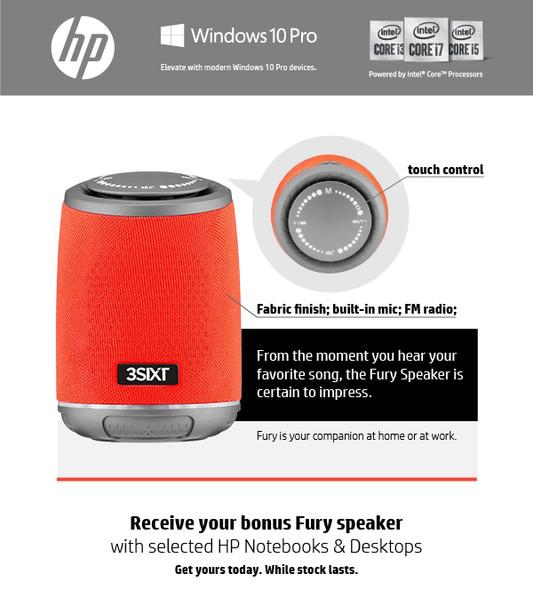 HP ProDesk 400 G7 SFF Desktop Computer BONUS FURY Speaker