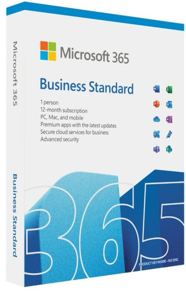 Microsoft 365 Business 2021 Standard Retail English APAC 1 User 1 Year Subscription, Medialess